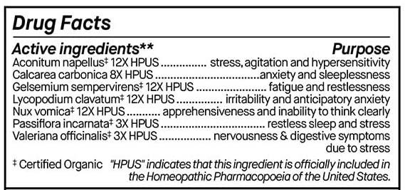 Genexa Stress Relief Ingredients
