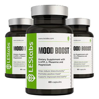 LES Labs Mood Boost Ingredients Bottle