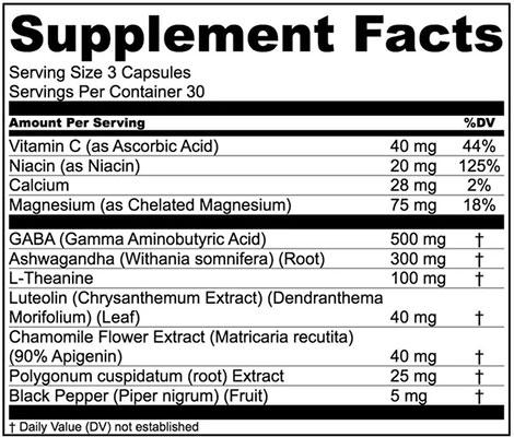 Levium Ingredients