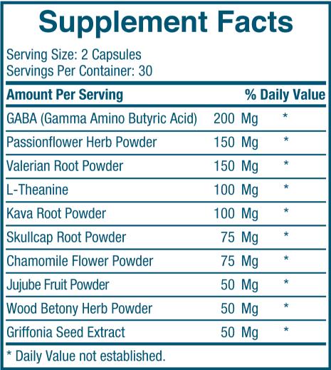 Serelax Ingredients